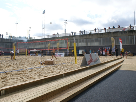 Beach Volleyball Sand Court